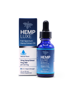 Hemp Luxe Full-Spectrum Hemp Extract Oil | Natural Flavor