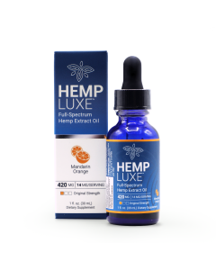 Hemp Luxe Full-Spectrum Hemp Extract Oil | Mandarin Orange Flavor