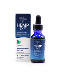 Hemp Luxe Full-Spectrum Hemp Extract Oil | Peppermint Flavor