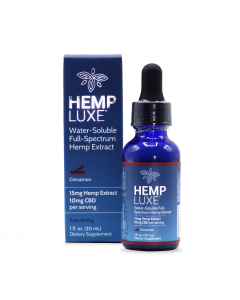 Hemp Luxe Water-Soluble Full-Spectrum Hemp Extract | Cinnamon Flavor
