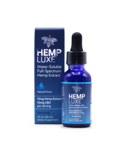 Hemp Luxe Water-Soluble Full-Spectrum Hemp Extract | Natural Flavor