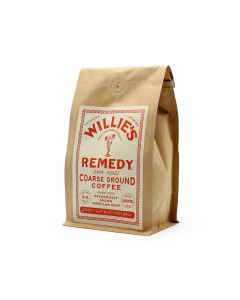 Willie's Remedy Dark Roast Course Ground Coffee, 8oz (250mg)