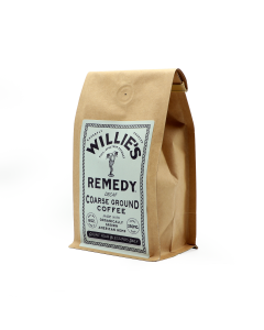 Willie's Remedy Decaf Blend Course Ground Coffee, 8oz (250mg)