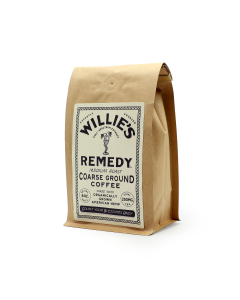 Willie's Remedy Medium Roast Course Ground Coffee, 8oz (250mg)
